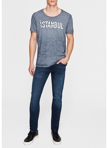 Mavi Mavi 064998-25768 İstanbul T-Shirt Mavi